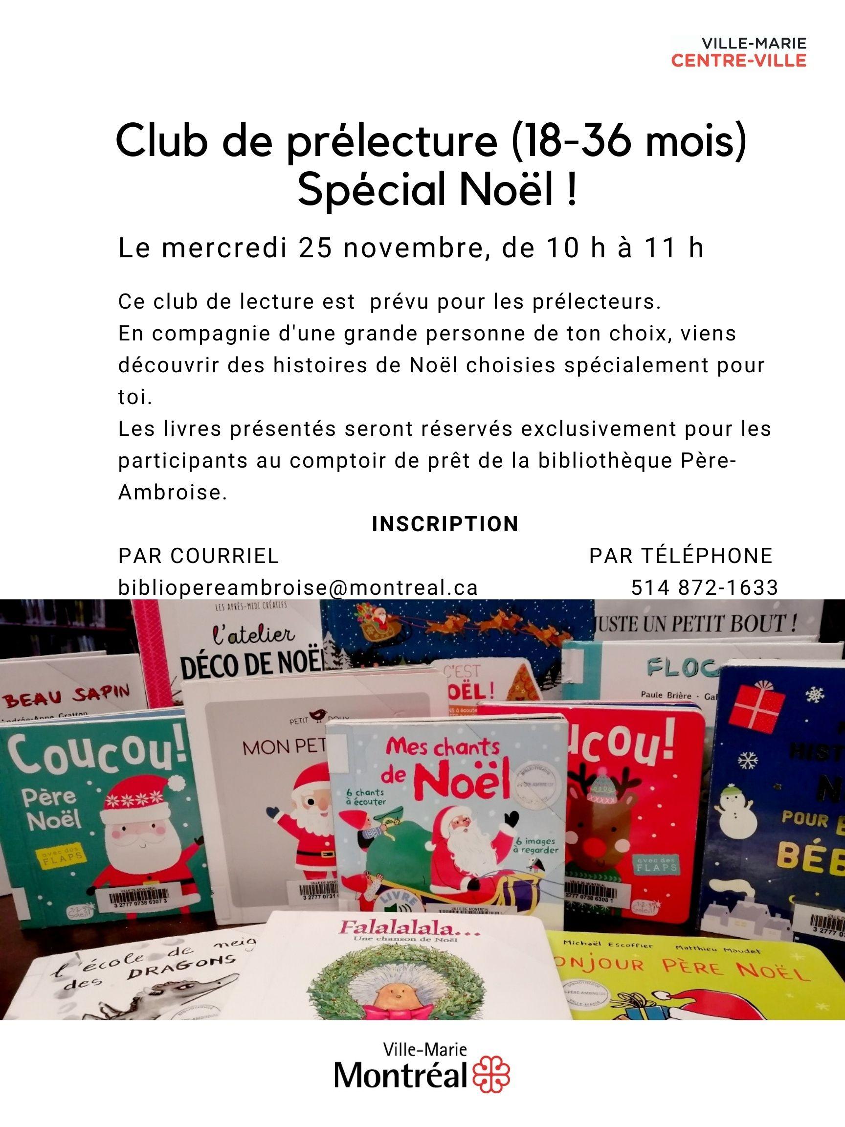 club de prélecture (18-36 mois) spécial Noël @ virtuel