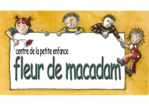 Logo fleur de la petite enfance fleur de macadam